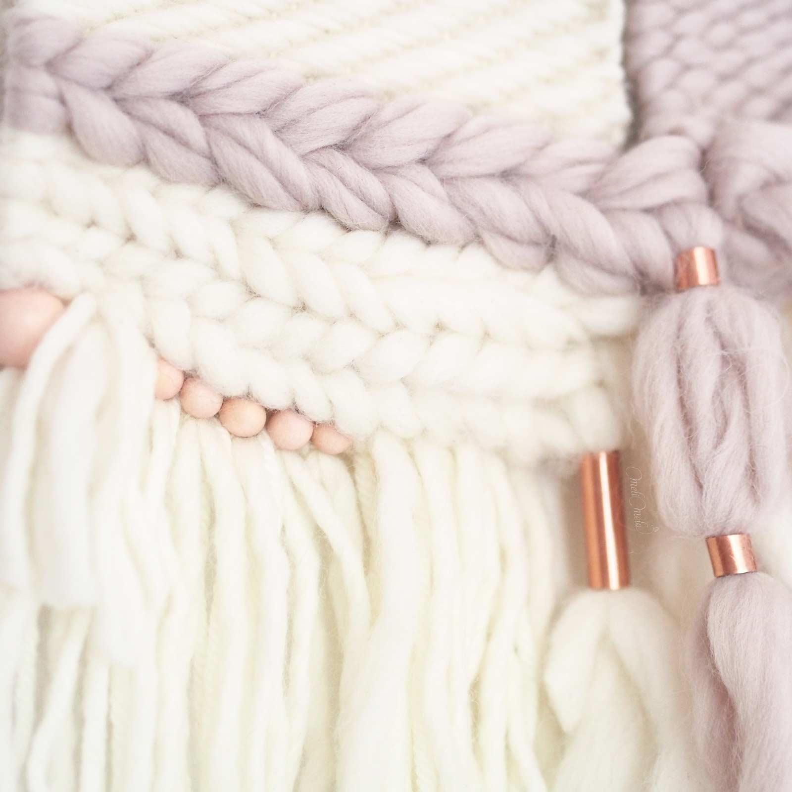tissage laine cuivre perles bois laboutiquedemelimelo