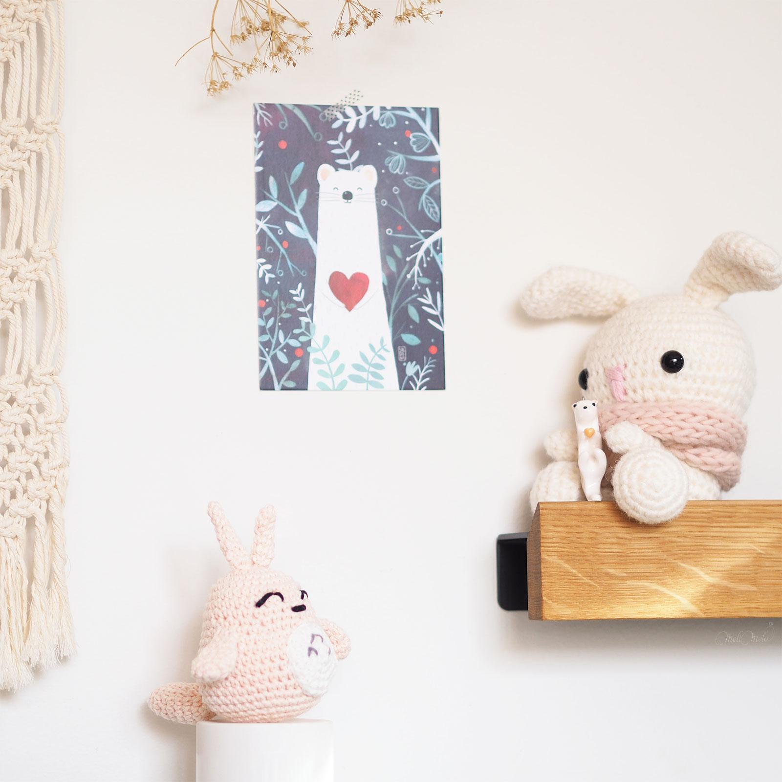 totoro crochet ghibli lapin illustration loutre mignonnerie idée cadeau laboutiquedemelimelo