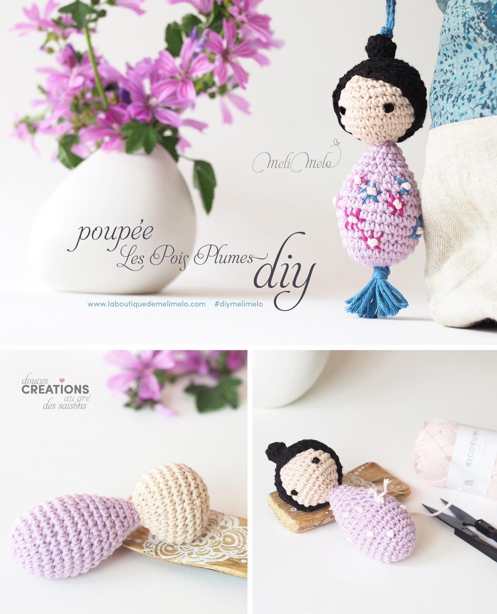 tutoriel diy pin poupée fleurie printemps Les Pois Plumes laboutiquedemelimelo