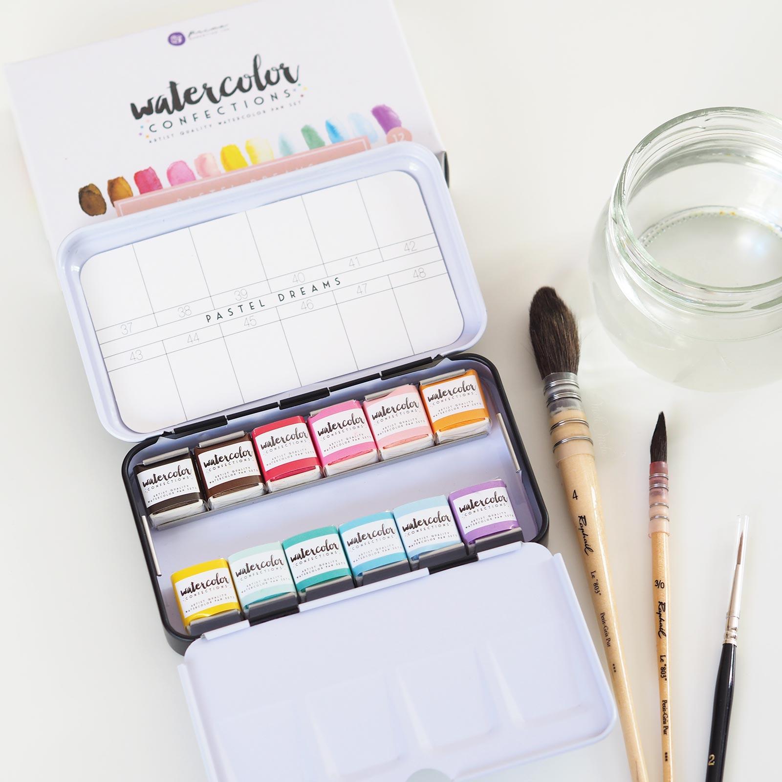 unboxing watercolor pastel dreams confections prima boutique MeliMelo