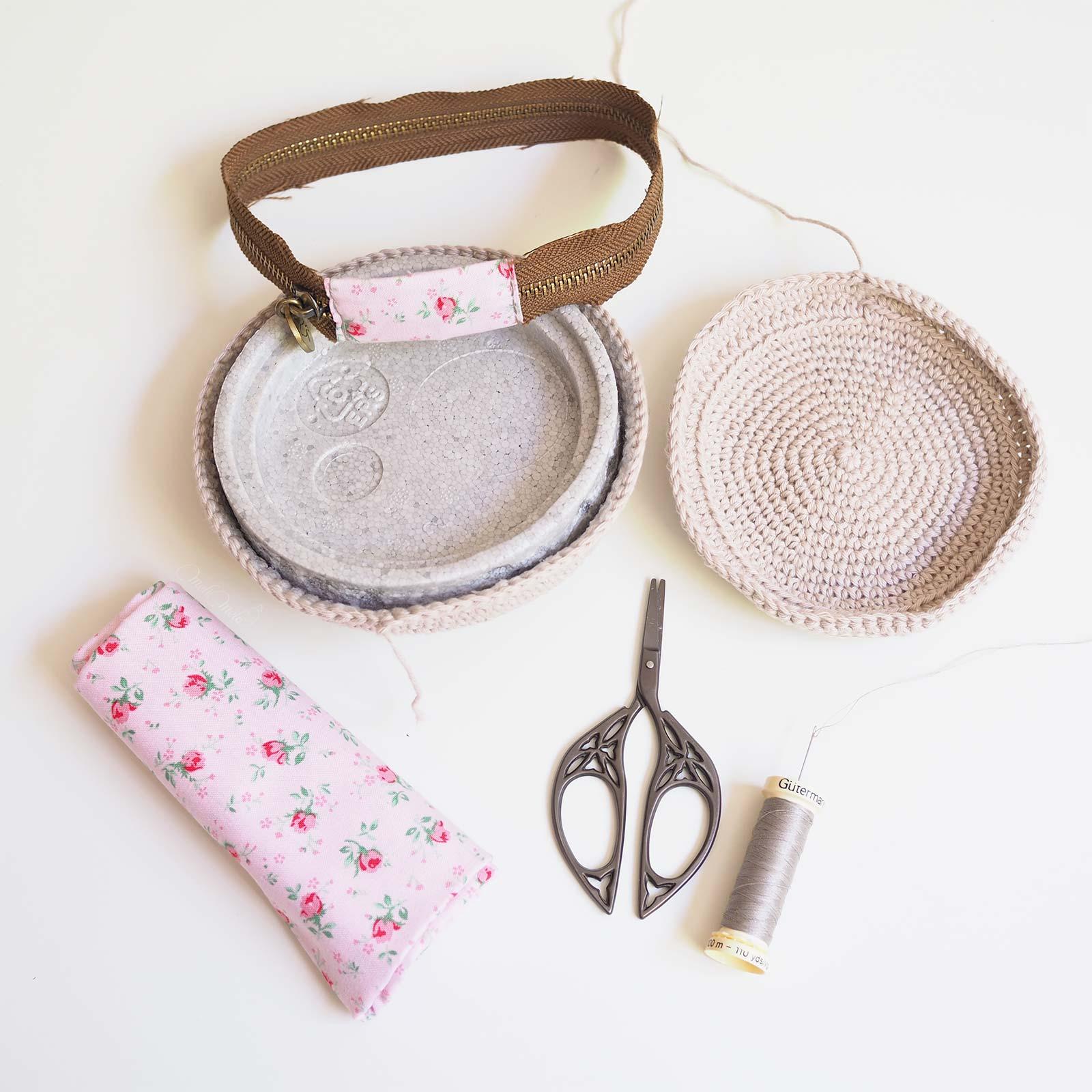 surcyclage upcycling crochet écrin fermeture éclair tuto chouettekit coton ricorumi laboutiquedemelimelo