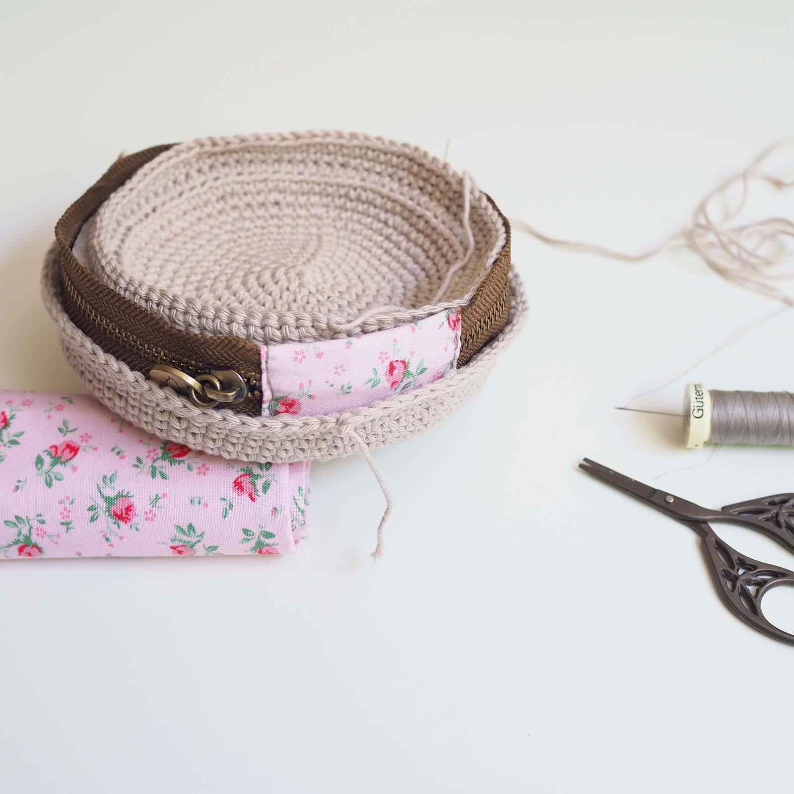 upcycling surcyclage crochet écrin fermeture éclair tuto chouettekit coton ricorumi laboutiquedemelimelo