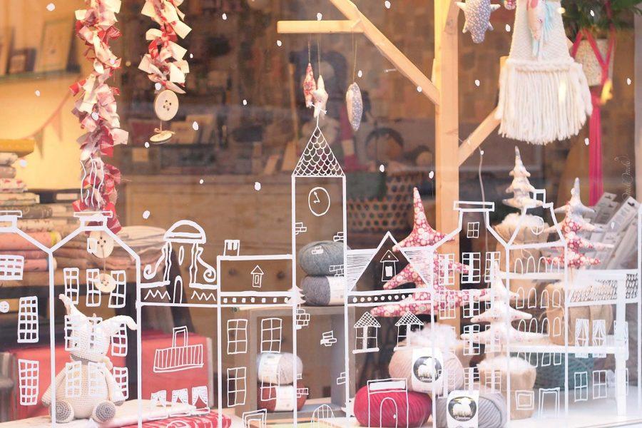 vitrine fêtes Noël Reyes Magos Mimarinita Valladolid