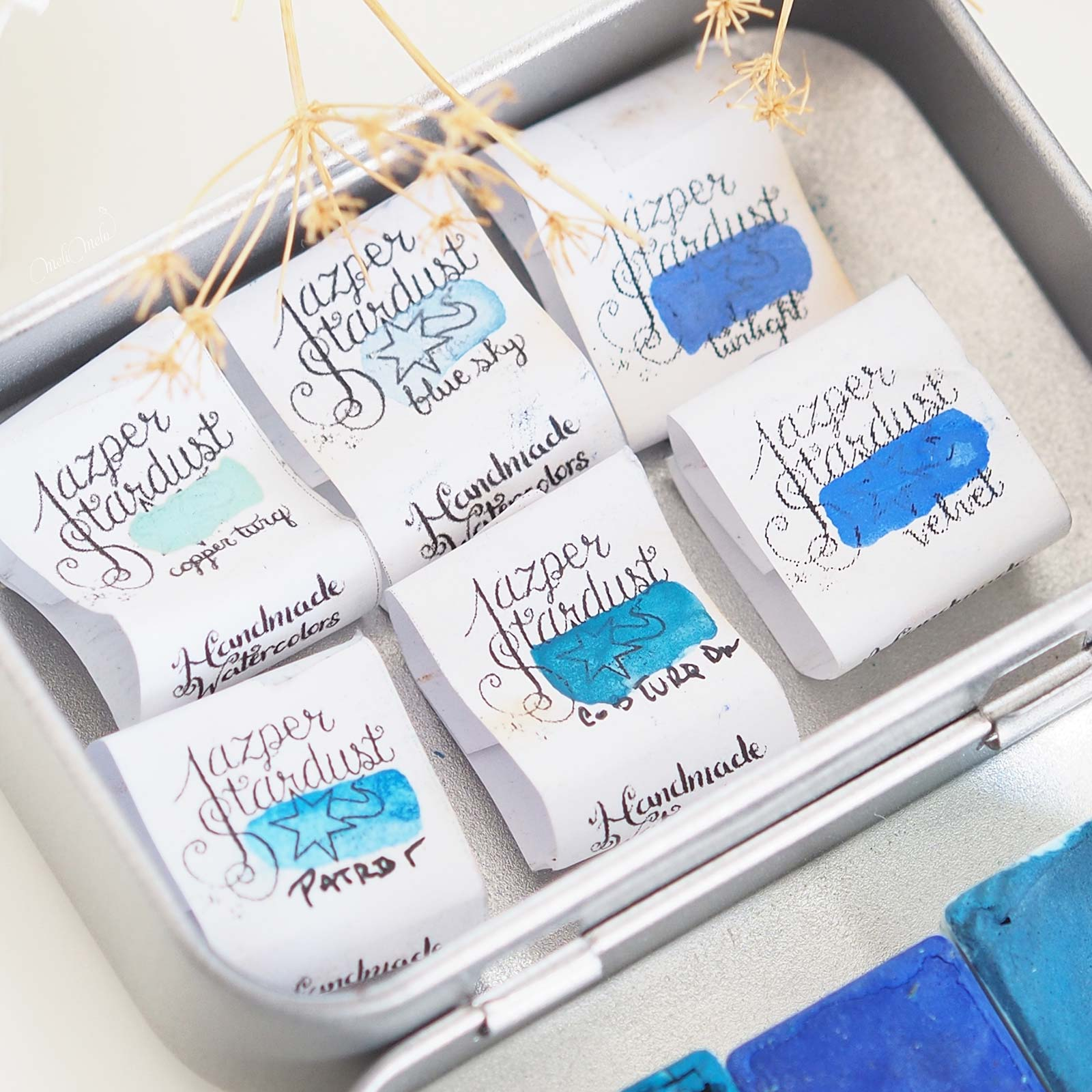 watercolor-blue-handmade-jazper-stardust-aquarelle-laboutiquedemelimelo