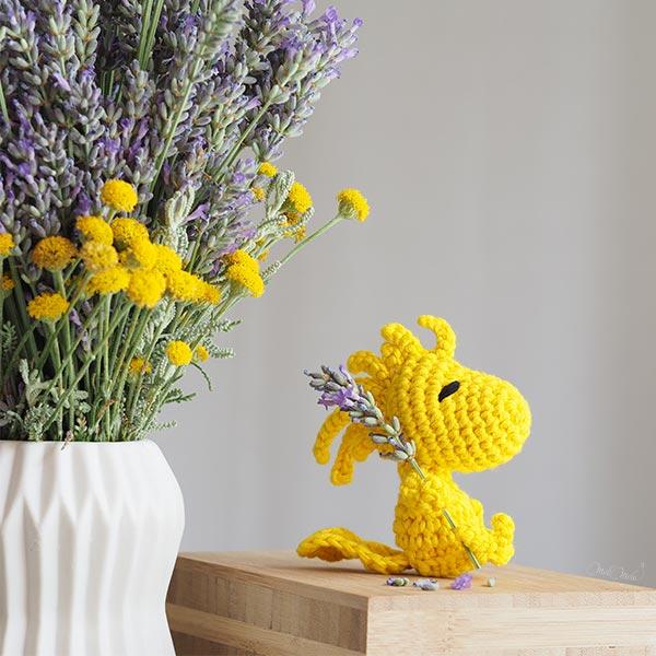 Woodstock Peanuts canari jaune crochet amigurumi happycrochetetc laboutiquedemelimelo